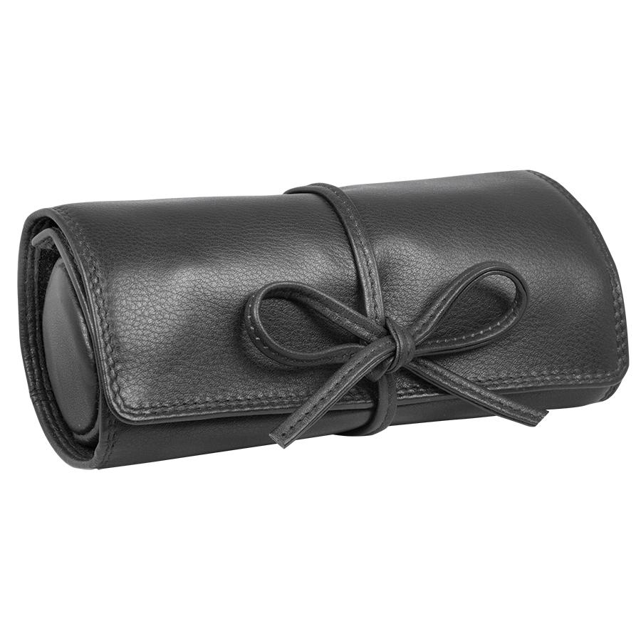 Футляр для украшений  «Милан»,  черный, 16х5х7 см,  кожа, подарочная упаковка