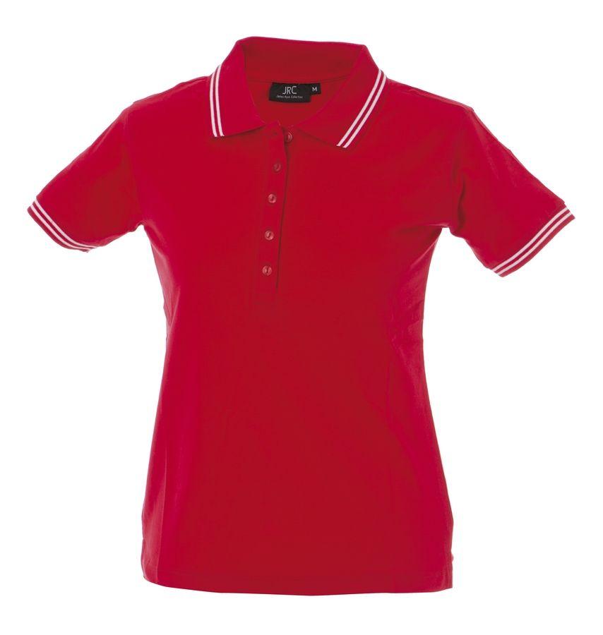 MINORCA Жен. Поло с короткими рукавами красный, размер S