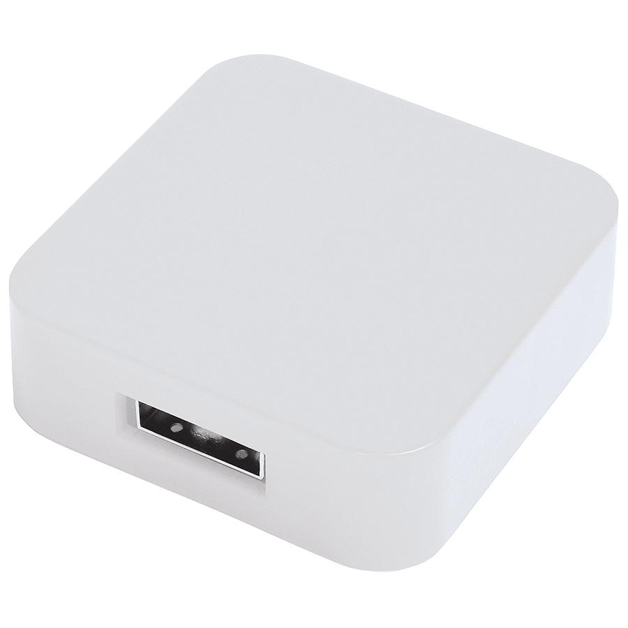 USB flash-карта «Akor» (8Гб),белая, 4х4х1,3см,пластик