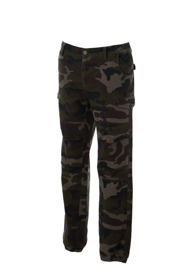 KABUL Штаны с карманами, камуфляж зеленый, размер XXL