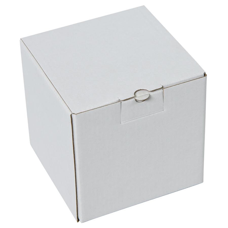 Фотография товара Коробка подарочная для кружки, размер 11*11*11 см., микрогофрокартон белый