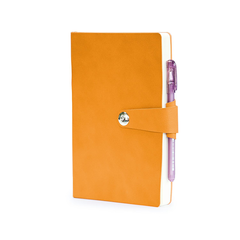 Ежедневник недатированный Primavera, А5, оранжевый, бежевый блок, ляссе