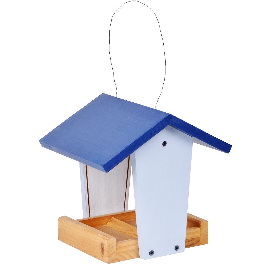 Кормушка «Сделай сам»,  синий, 23х18х23 см, дерево