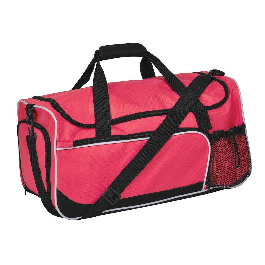 Сумка дорожная «Sporty»; красный с черным; 52х27х26  см; полиэстер; шелкография
