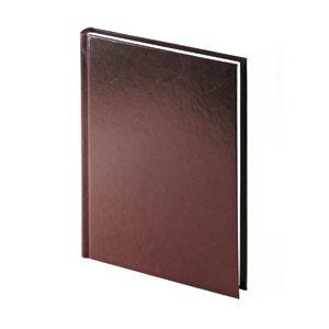 Ежедневник датированный Ideal New, А5, бордовый, белый блок, без обреза