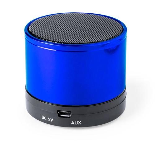 Портативная bluetooth-колонка «Martins», синий, 5,9х5 см,пластик,металл