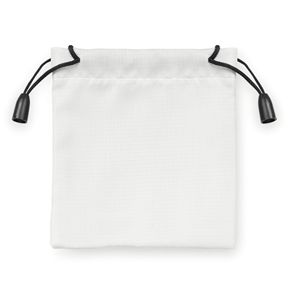 Мешочек подарочный, белый, 9,5х10см, полиэстер
