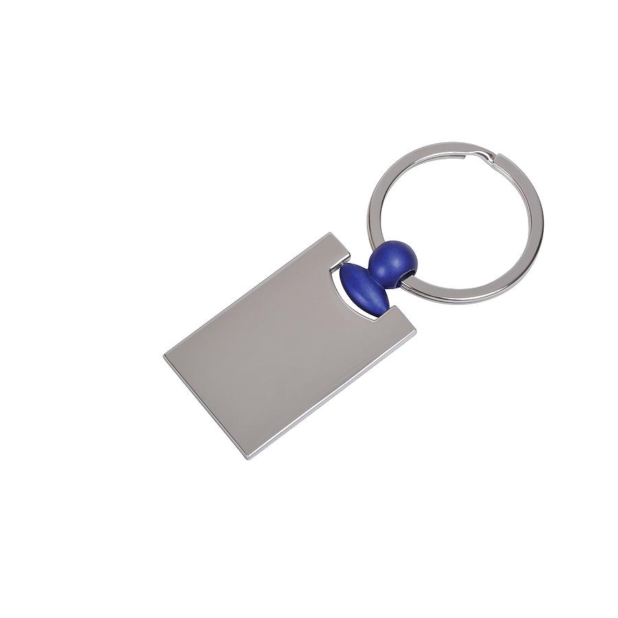 """Брелок """"Техно"""" с синим элементом, 2,2х4,2х0,3см, металл"""