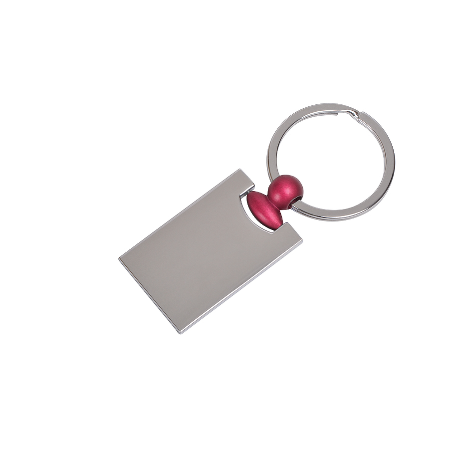 Брелок «Техно» с красным элементом, 2,2х4,2х0,3см, металл