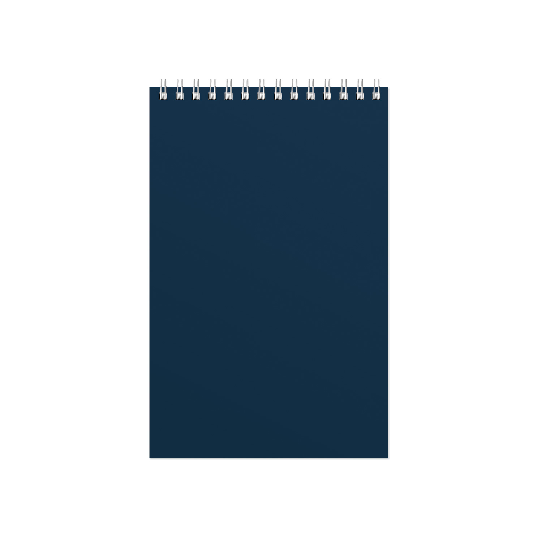 Блокнот Office синий, А5, 127х198 мм, верхний гребень, белый блок, клетка, 60 листов