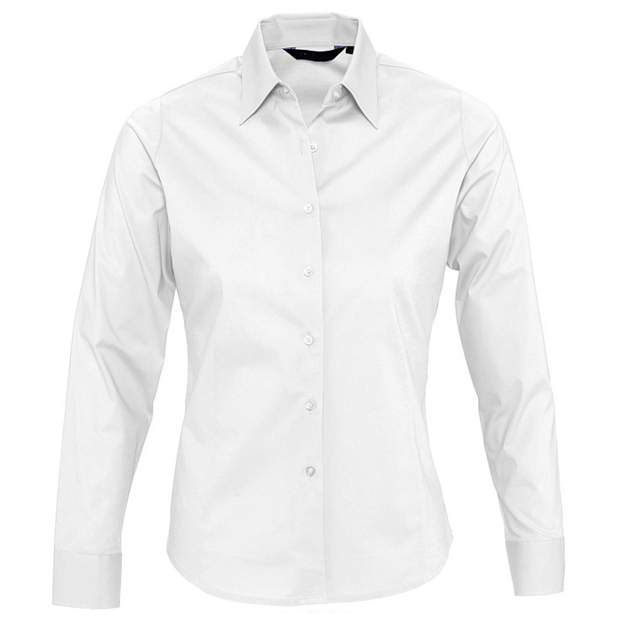 "Рубашка ""Eden"", белый_S, 97% хлопок, 3% эластан, 140г/м2"