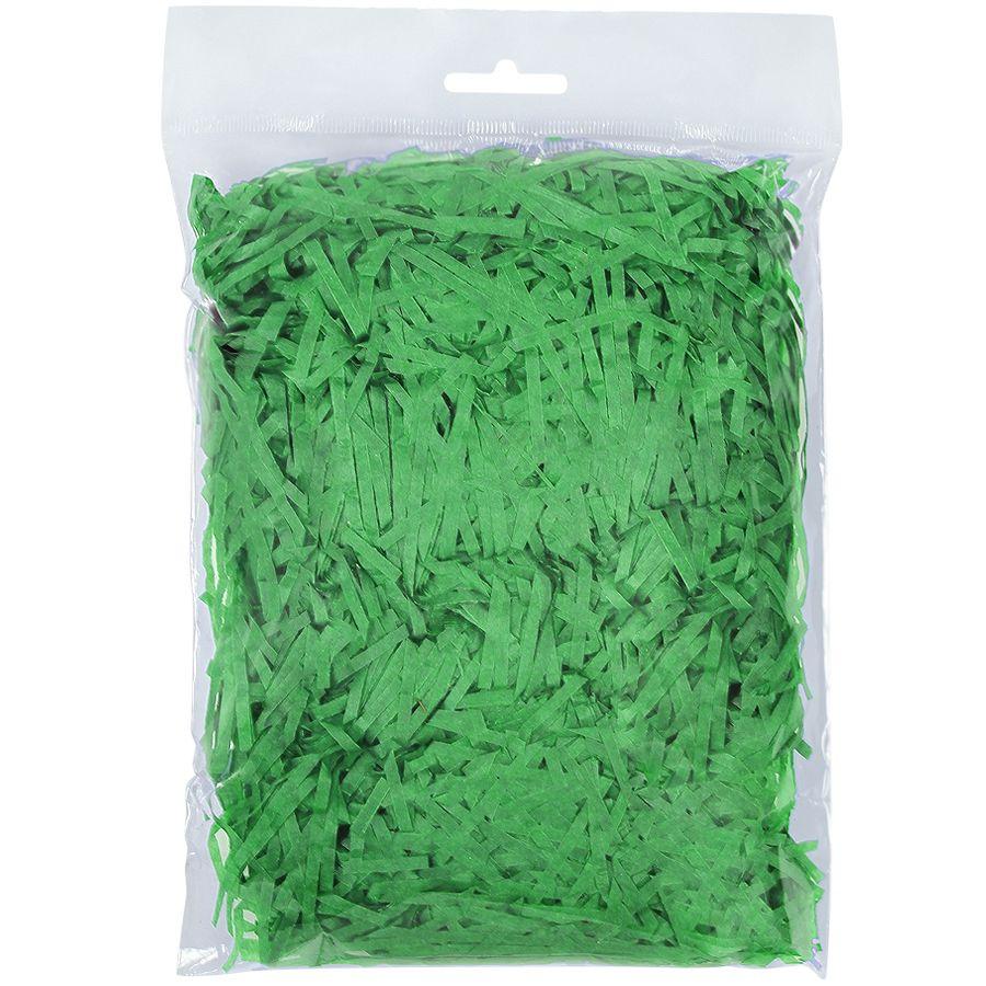 Стружка бумажная декоративная мягкая, 3 мм, 40 гр, зеленая