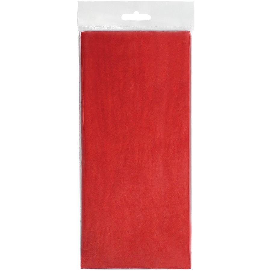 """Упаковочная бумага """"Тишью"""", красный, 10 листов в упаковке, размер листа 50*75 см"""