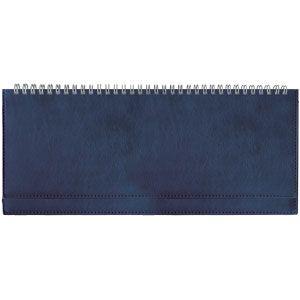 Планинг недатированный Leader, синий, 295х100 мм, белый блок, открытый гребень