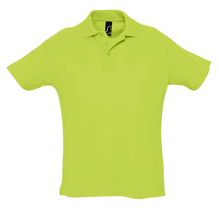 Поло «Summer» зеленое яблоко_2XL, 100% х/б, 170г/м2