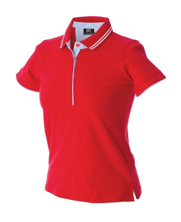 Поло женское «RODI LADY», красный_ M, 100% х/б, 180г/м2