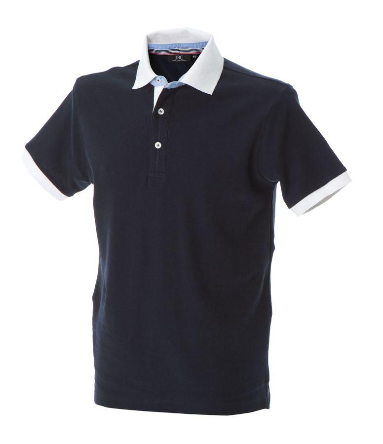HAVANA Поло с короткими рукавами темно-синий, размер XXL