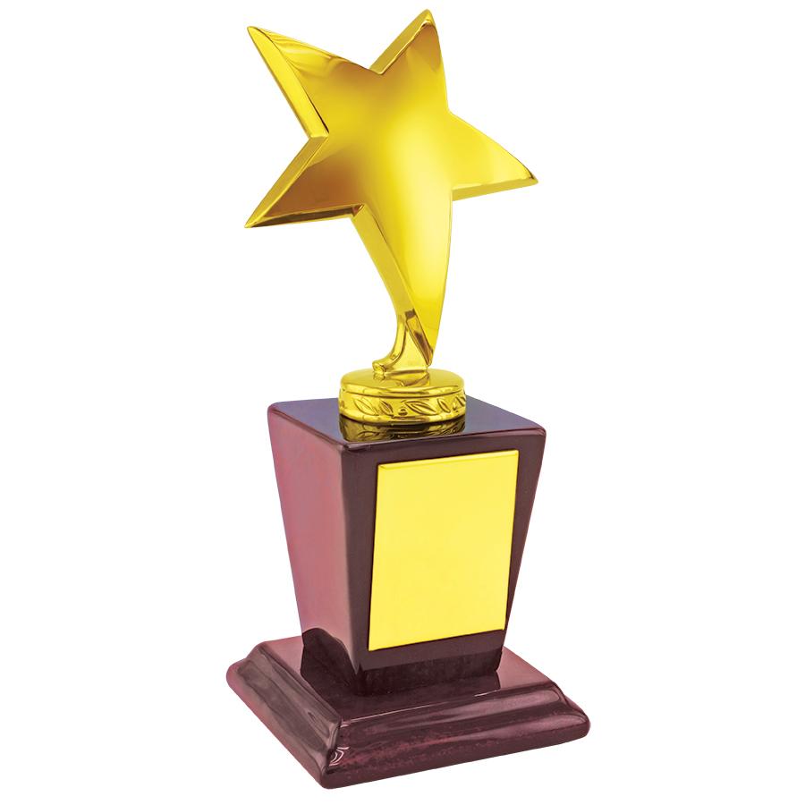 Фотография товара Стела «Звезда»; 9х8х19,6 см; металл, дерево; лазерная гравировка