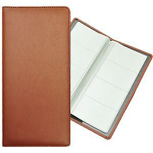 Фотография товара Визитница (128 визиток); коричневый; 12х26,3 см; искуccтвенная кожа; шелкография