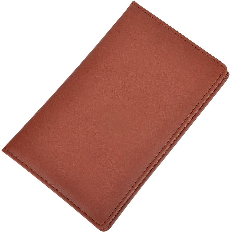 Фотография товара Визитница (96 визиток); коричневый; 12х20 см; искуccтвенная кожа; шелкография