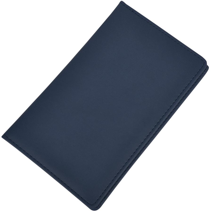 Визитница (96 визиток); синий; 12х20 см; искуccтвенная кожа; шелкография