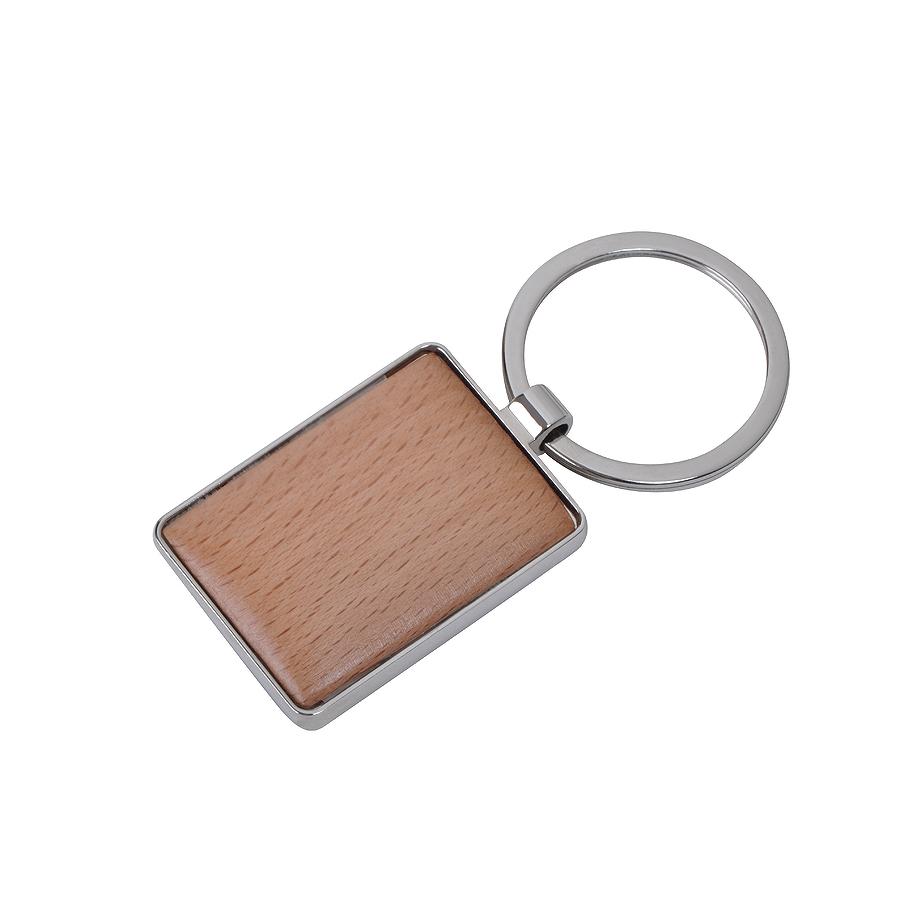Фотография товара Брелок «Woody» прямоугольный, 3х4х0,5см, дерево, металл