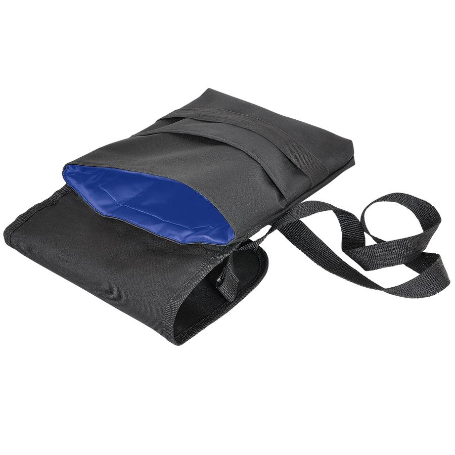 Cумка «CASUAL» ,  черный/синий, 21х27 см; полиэстер ; шелкография
