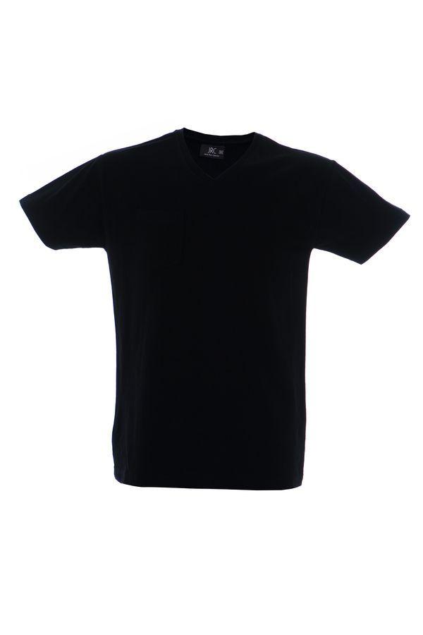 CUBA футболка V-вырез черный, размер S