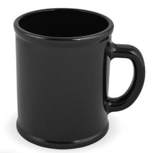 Кружка «Радуга»; черная, D=7,9см, H=9,6см, 300мл; пластик; тампопечать