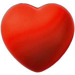 Антистресс «Сердце»; красный; 7,6х7х5,4 см; вспененный каучук;