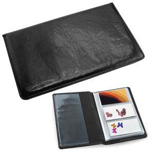 Визитница (96 визиток); черный; 12х20 см; искуccтвенная кожа; шелкография