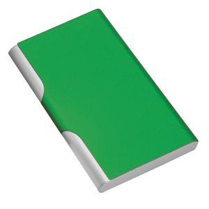Фотография товара Визитница с брелоком; зеленый; 9,6х6,2 см; металл; лазерная гравировка, тампопечать