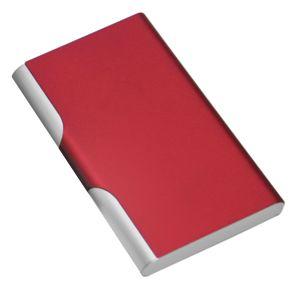 Фотография товара Визитница с брелоком; красный; 9,6х6,2 см; металл; лазерная гравировка, тампопечать