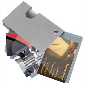 Фотография товара Визитница; 6,5х10,8х1,5 см; металл; лазерная гравировка