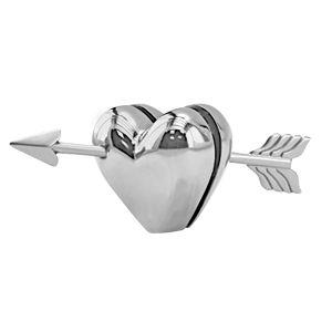 Мемо-холдер «Сердце»; 8х3,8х3,5 см; металл; лазерная гравировка