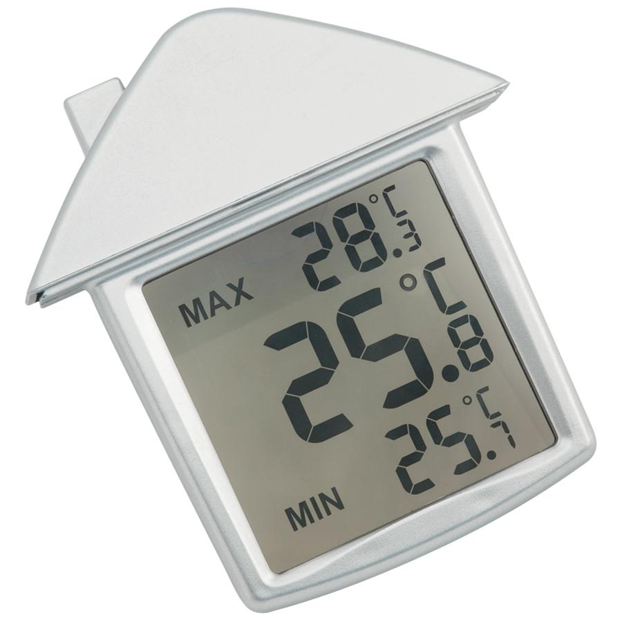 Термометр на присоске «Дом»; 9х10х2,8 см; пластик; тампопечать