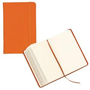 Фотография товара Блокнот для записей;оранжевый; 9,5х14,5х1,6 см.; искусственная кожа; шелкография