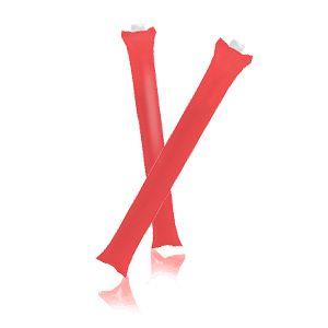 Палки-стучалки надувные «Оле-Оле» ; красный; 60х10 см., ПВХ;