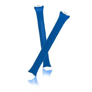 Палки-стучалки надувные «Оле-Оле» ; синий; 60х10 см., ПВХ;