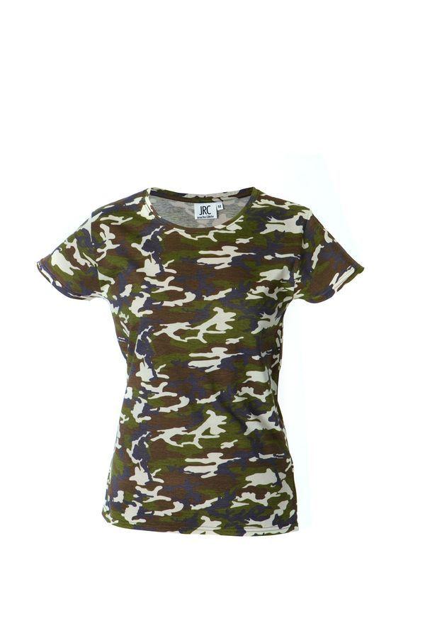 IBIZA LADY Жен. футболка круглый вырез, камуфляж, размер S