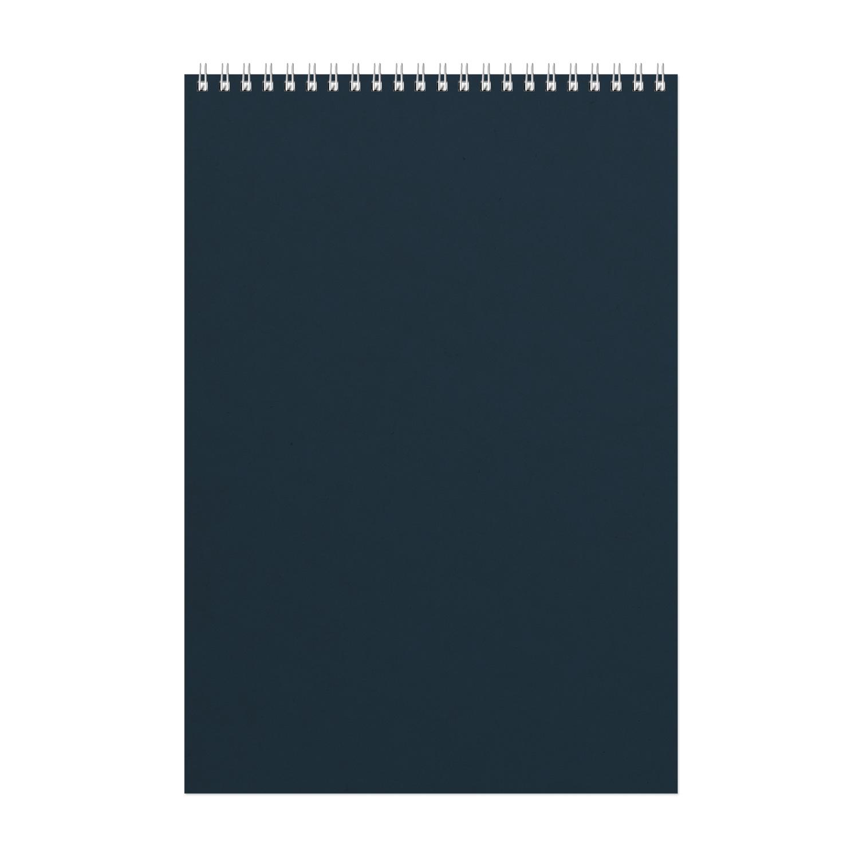 Фотография товара Блокнот Office синий, А4, 198х285 мм, верхний гребень, белый блок, клетка, 60 листов