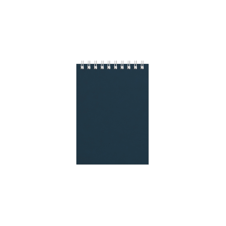 Фотография товара Блокнот Office синий, А6, 94х130 мм, верхний гребень, белый блок, клетка, 60 листов