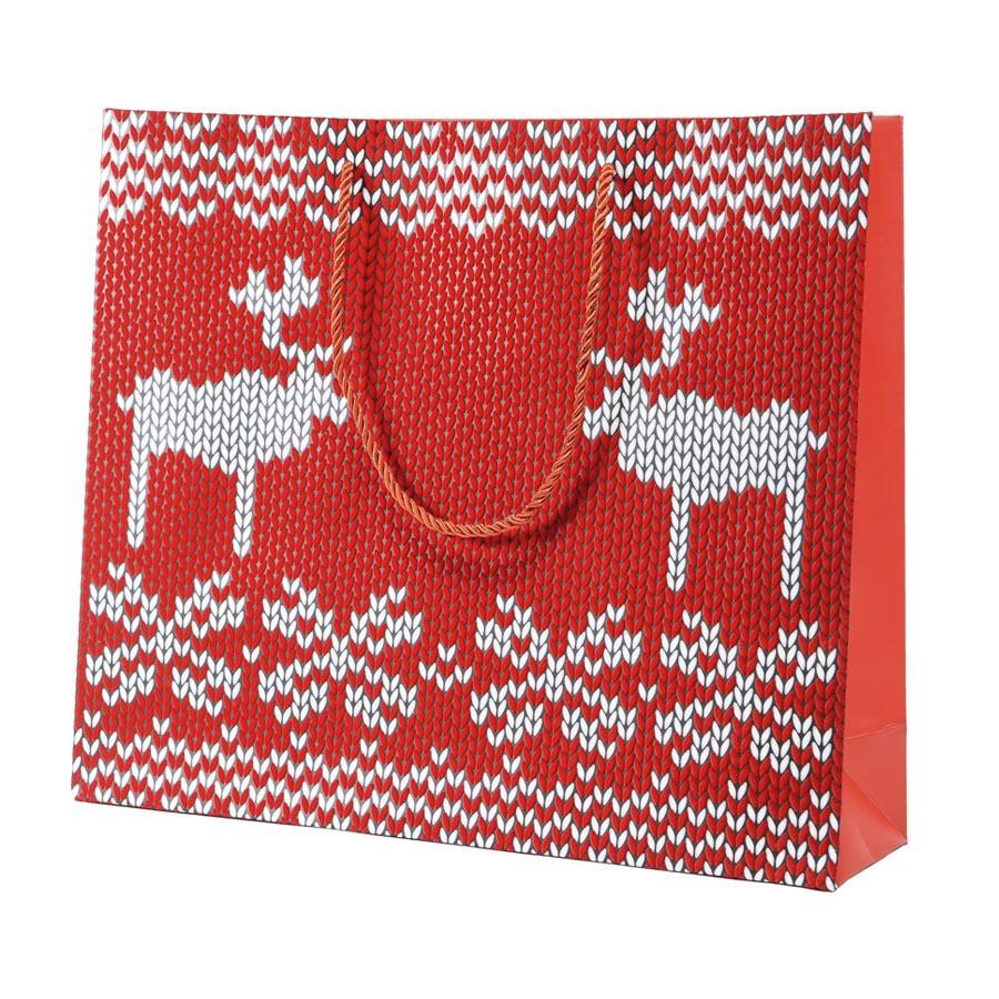 Фотография товара Пакет  большой «Oh my deer», 43*32*11 см, флокированный
