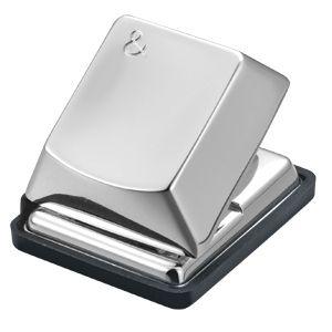 Дырокол «Компьютерная кнопка»; 4,7х4х3,7 см; посеребренный металл; лазерная гравировка