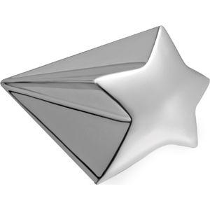 Пресс-папье «Звездочка»; 10х6,2х5 см; посеребренный металл; лазерная гравировка