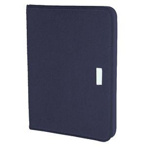 Папка А4 «UNION»с бумажным блоком; темно-синий; 33х23,5 см; текстиль; шелкография, лазер. гравировка