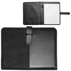 Папка А4 «Контракт»  с блоком для записей; черный; 31,7х26х2,5 см; искуccтвенная кожа; шелкография