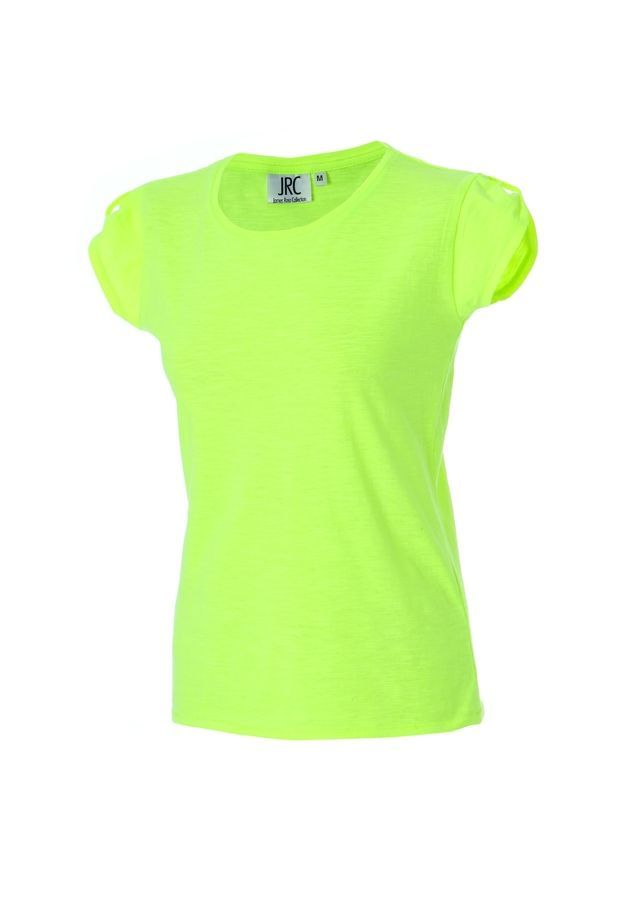 PERTH LADY Жен. футболка круглый вырез  желтый флуоресцентный, размер M