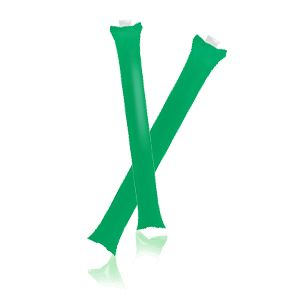 Палки-стучалки надувные «Оле-Оле» ; зеленый; 60х10 см., ПВХ;