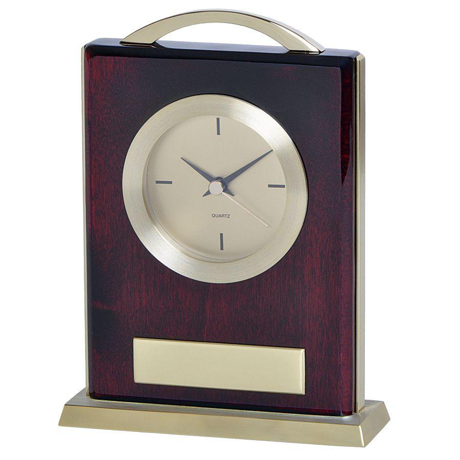 Часы настольные «МИНИСТР» ; 14,9х4,8х19,6 см; металл, дерево; шильд, лазерная гравировка